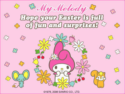 My Melody Easter e-Card