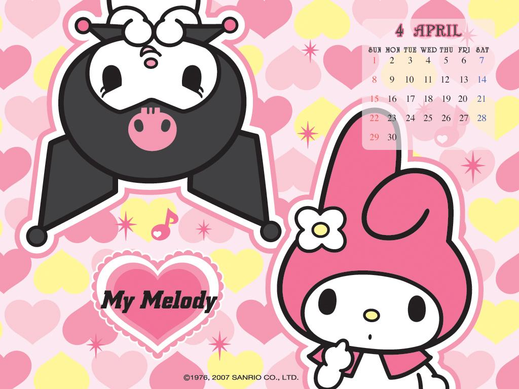 My Melody & Kuromi Calendar Wallpaper