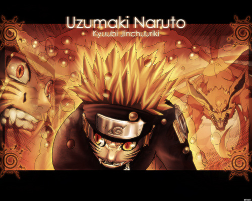 uzumaki naruto (shippuuden) wallpaper probably with animê called Naruto-Kyuubi