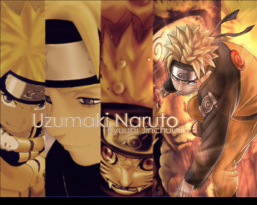 Uzumaki Naruto (Shippuuden) Hintergrund called Naruto through the ages