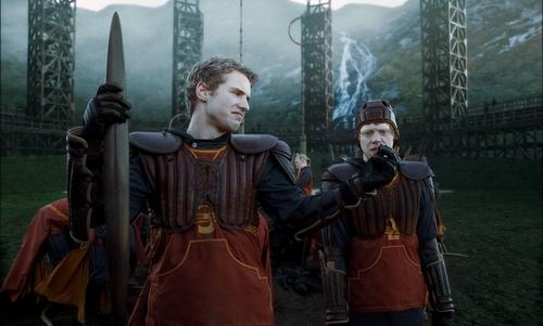 New Half-Blood Prince stills - Cormac McClaggen and Ron at the Qiudditch pitch