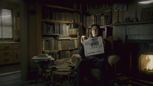 Severus Snape wallpaper containing a library, an athenaeum, and a reading room titled New Half-Blood Prince stills - Spinners End