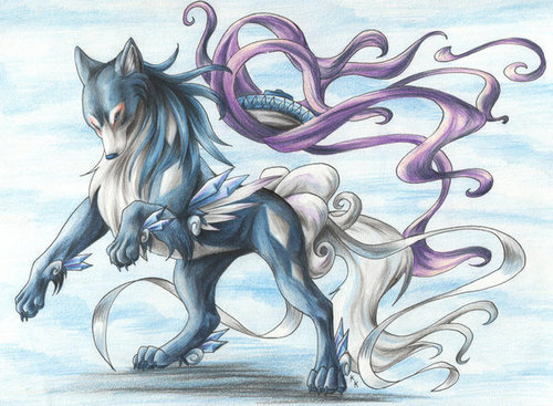 Pokémon wallpaper probably with anime titled Okami Style Suicune