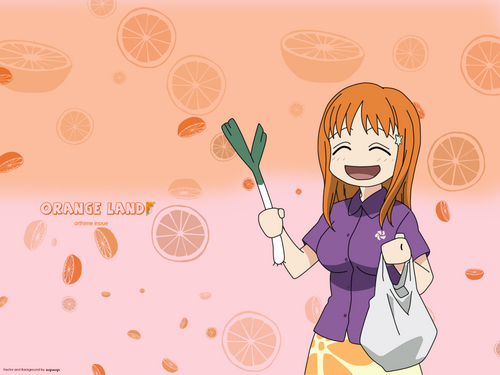Inoue Orihime Holding a পেঁয়াজ