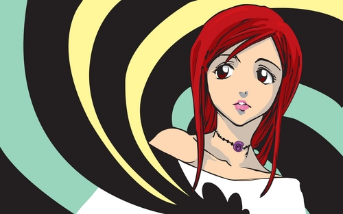 Inoue Orihime With Red Hair