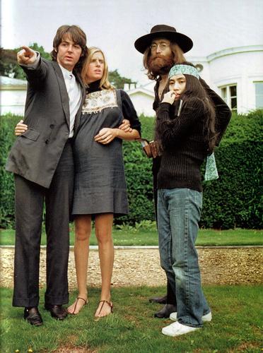 Paul, Linda, John, Yoko