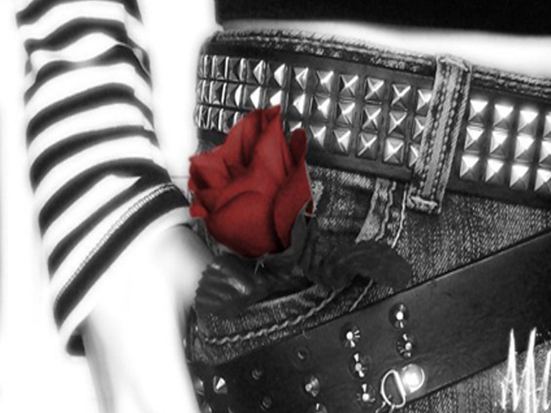 emo wallpaper. Red Rose - Emo Wallpaper