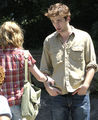Robert Pattinson on Remember set - twilight-series photo