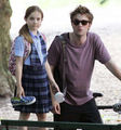 Robert Pattinson on Remember set - twilight-series photo
