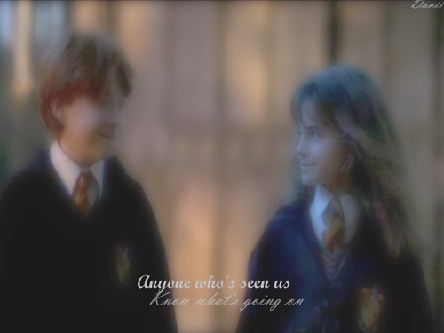 Romione wallpaper possibly with a business suit and a penal institution called Ron&Hermione <3