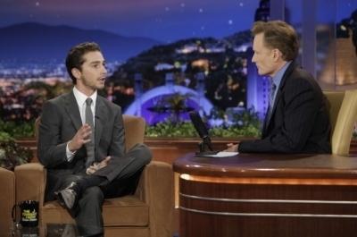 Shia on The Tonight mostra with Conan O'Brien