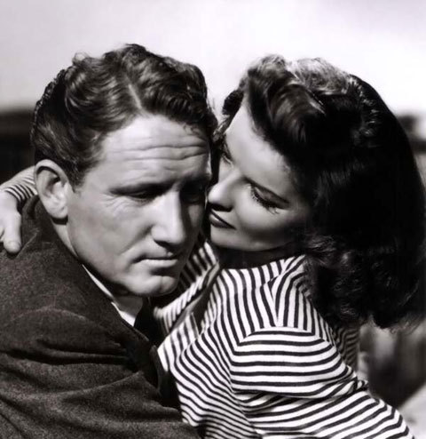 Classic Movies wallpaper possibly with a portrait called Spencer Tracy & Katharine Hepburn