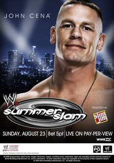 wwe wallpaper possibly containing a sign and a portrait called Summerslam 2009 Poster