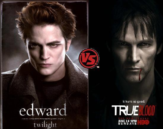 "true blood vs twilight People say the ""the vampire thing"" is played out, and maybe they're right, but that  doesn't stop true blood and the vampire diaries fans from."