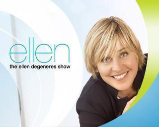 The Ellen Degeneres Zeigen Hintergrund possibly with a portrait titled The Ellen Degeneres Zeigen