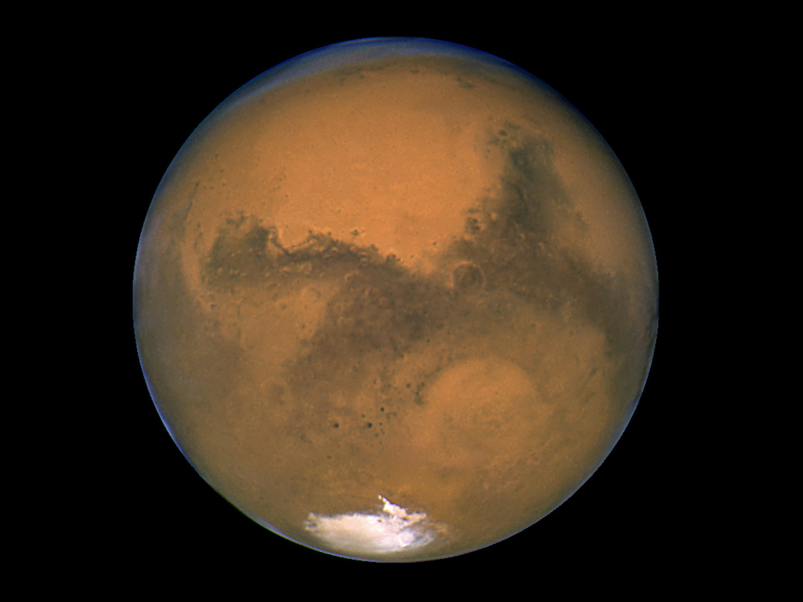What does mars look like through a telescope