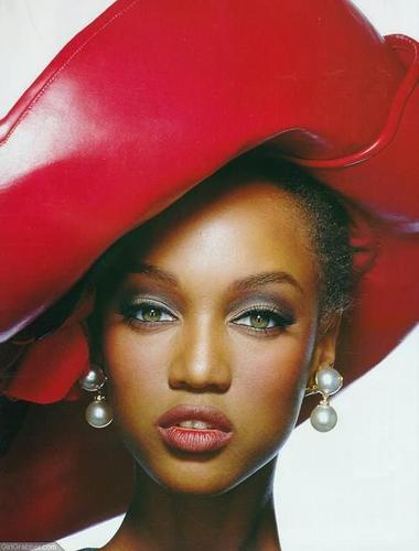 Tyra Banks wallpaper with a snap brim hat entitled Tyra Editorial  photos