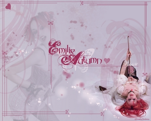 Emilie Autumn wallpaper possibly containing a bouquet called Violinist