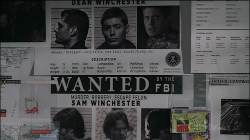 "Wanted posters in ""Jus In Bello"""