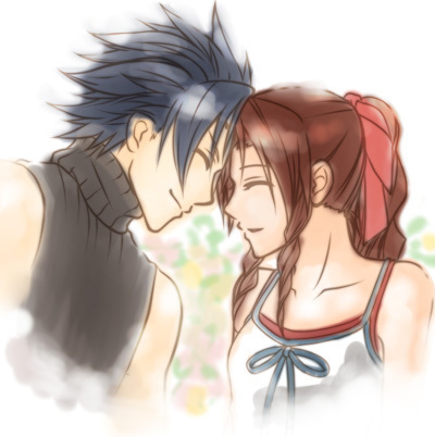 Final कल्पना VII वॉलपेपर possibly containing attractiveness and a portrait entitled ZACK AND AERITH