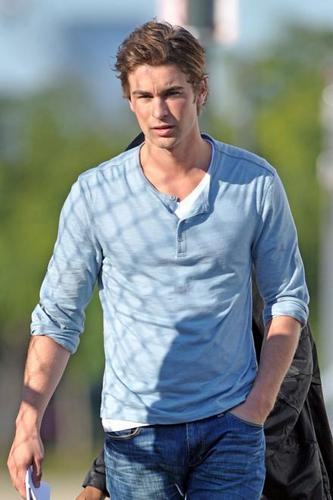 chace on set