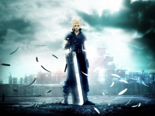 Final Fantasy VII achtergrond with a fontein entitled final fantasy 7