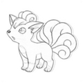 hand drawn vulpix