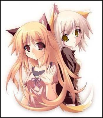 Neko anime Characters karatasi la kupamba ukuta probably with anime called neko