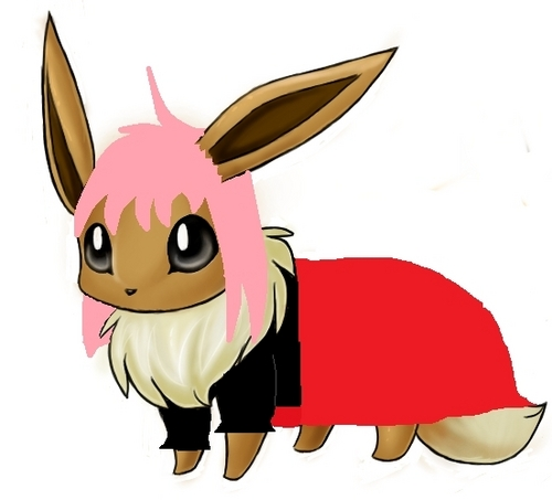 Eevee wallpaper called berwarna merah muda, merah muda