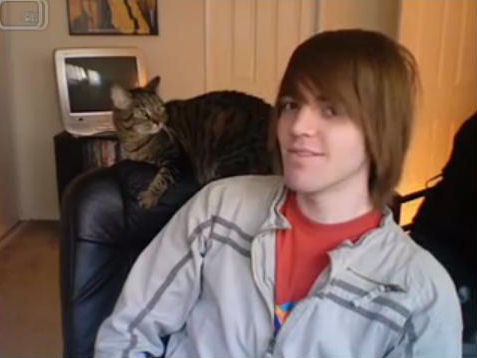 shane with muffins..