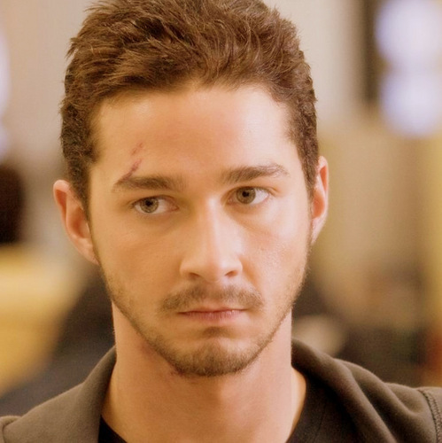 Transformers wallpaper possibly containing a business suit and a portrait titled shia
