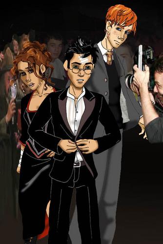 Harry Potter images the Trio fan art HD wallpaper and ... Harry Potter Trio Fan Art