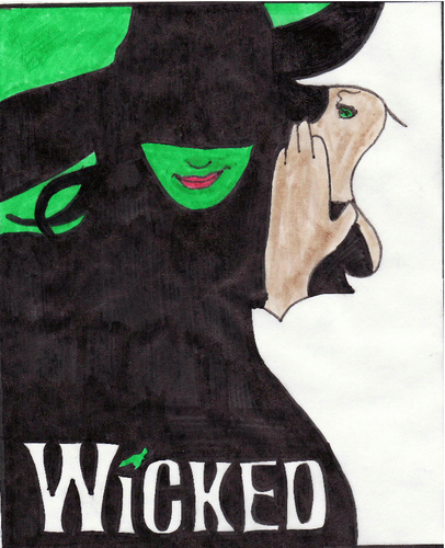 the Wicked poster, drawn kwa me