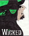 the Wicked poster, drawn by me - wicked fan art