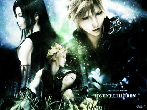 Final Fantasy VII پیپر وال possibly containing a portrait entitled tifa and بادل