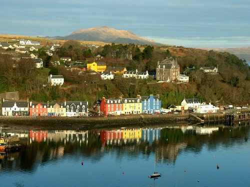 Scotland wallpaper probably with a business district entitled tobermory, mull