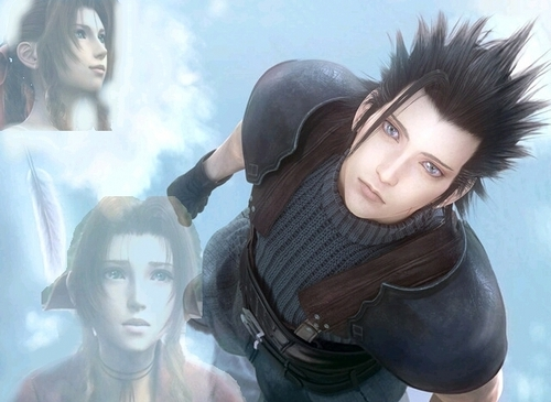 Final Fantasy VII پیپر وال titled zack and aerith