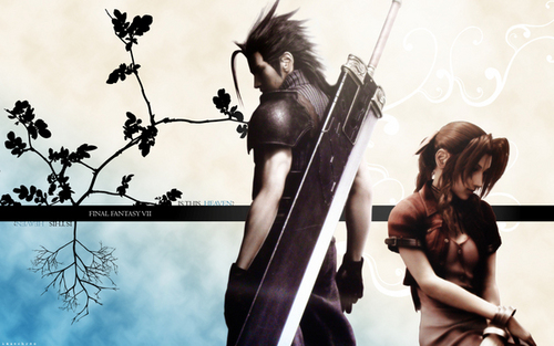 Final fantasía VII fondo de pantalla called zack and aerith