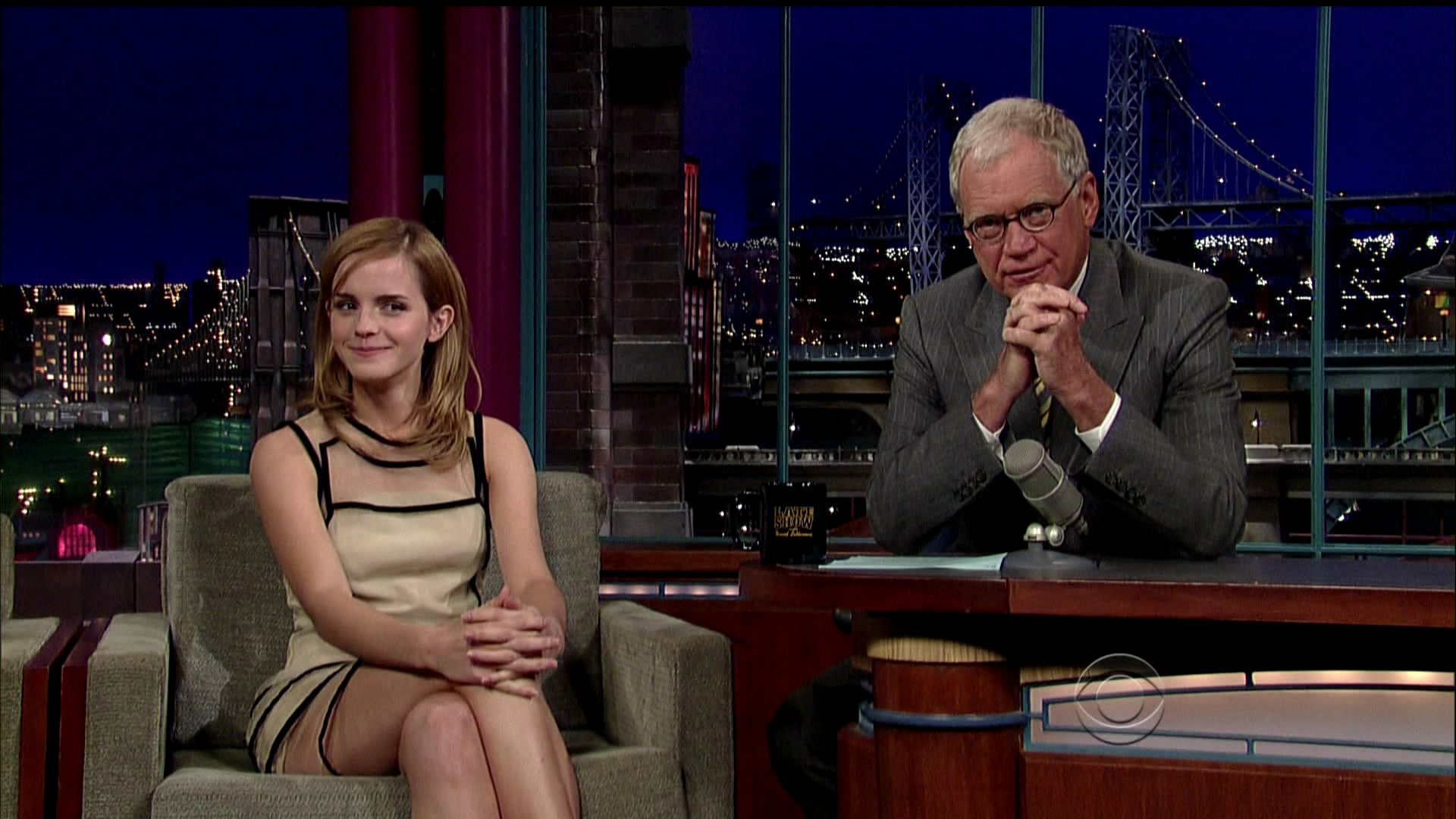 Ding ist Emma watson upskirt david letterman know what
