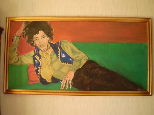 """jimi in relax "" acrilic on canvas painted によって Cristina OTTAVIO italy"
