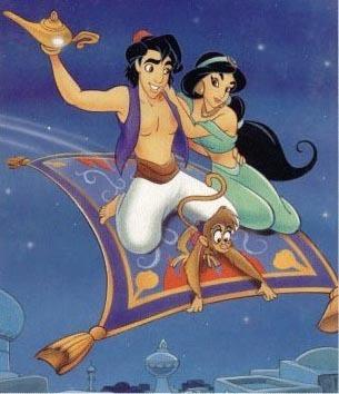 Aladdin wallpaper with anime entitled Aladdin&Jasmine