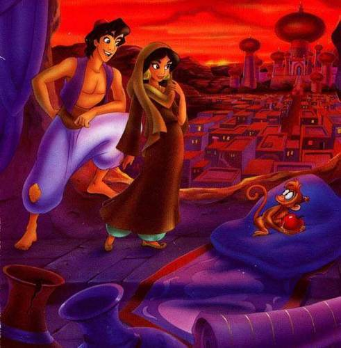 Aladdin wallpaper entitled Aladdin&Jasmine