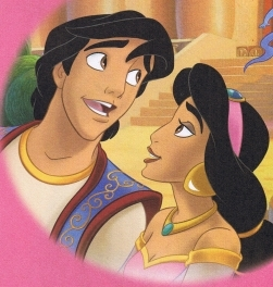 Disney Couples wallpaper possibly with anime titled Aladdin and Jasmine