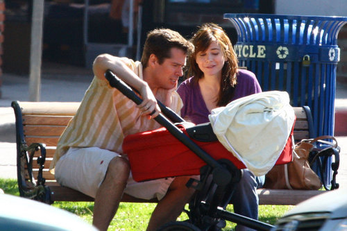 Alyson Hannigan and Alexis Denisof