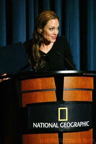 Angelina in@UNHCR's commemoration of World Refugee Day.