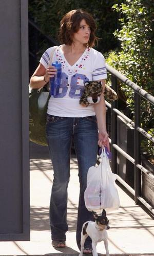 Ashley Greene & her doggy.