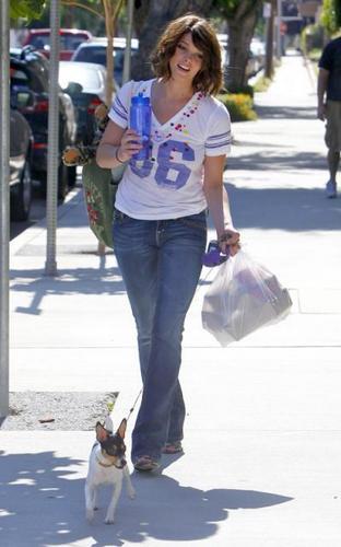 Ashley Greene & her doggy.