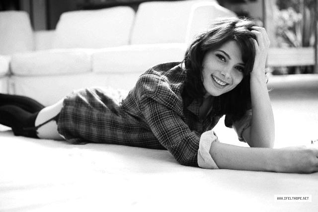 Ashley Greene in Nylon shot, B&W - ashley-greene photo