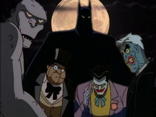 Batman: the animated series wallpaper probably with anime entitled Batman + villans