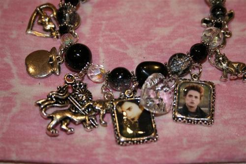 Black Twilight Charm Bracelet